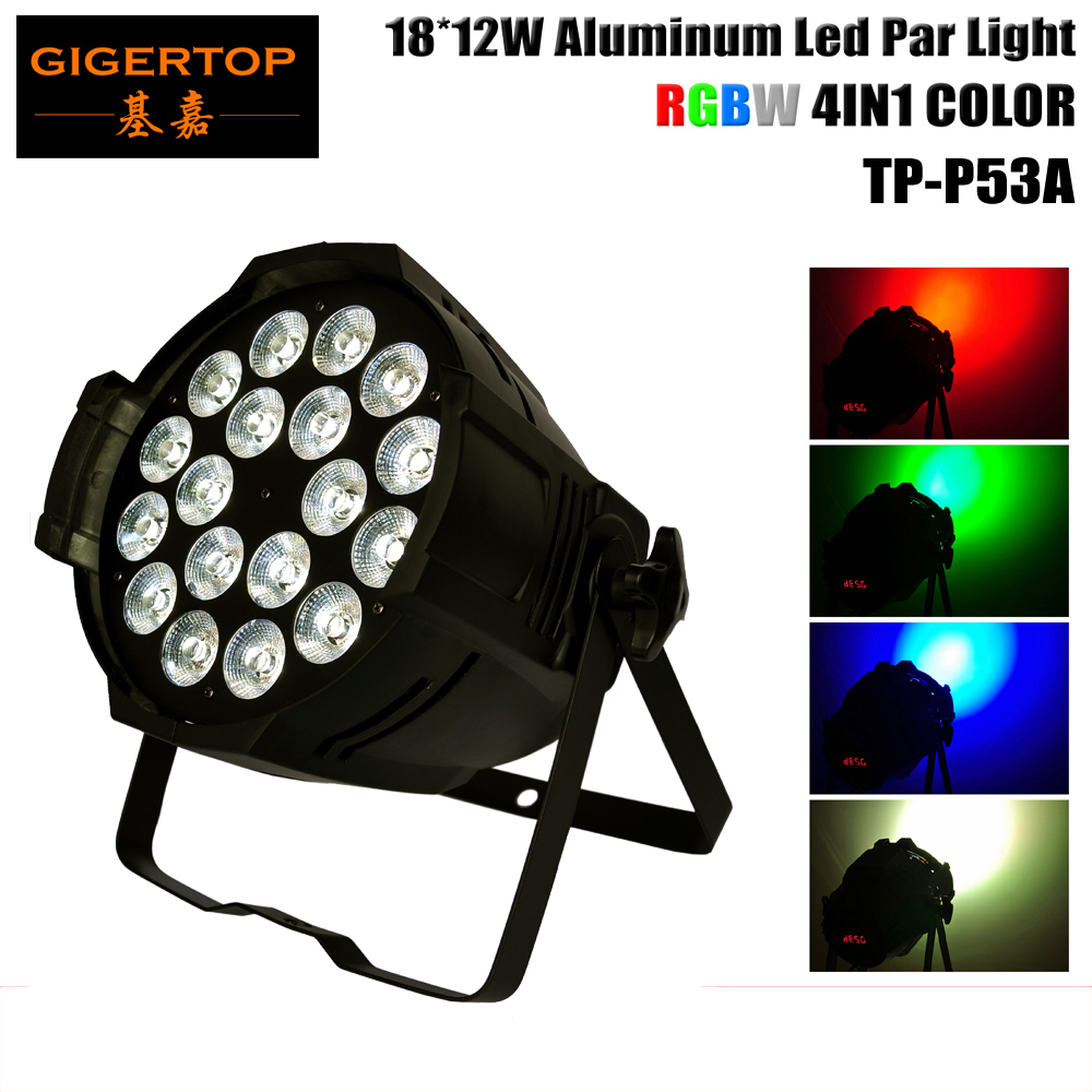 TIPTOP 18x12w 4IN1 Led Par64 Light RGBW Color Mixing Led Par Can DMX512 4/8CHs Led Stage Effect Light No Water Proof Type