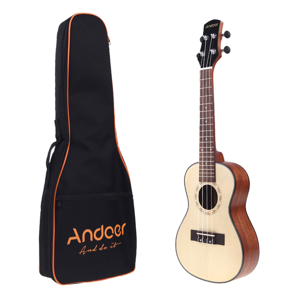 24 ''Ukelele Hawaiano Spruce Top Mahogany Back Aquila Rosewood Fretboard puente concierto Stringed instrumento con bolsa-in Ukelele from Deportes y entretenimiento on AliExpress - 11.11_Double 11_Singles' Day 1