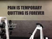 Pain Is Temporary Quitting Forever Quote Wall Sticker Inspirational Decal Cut Vinyl Motivational Gym Stickers Q82