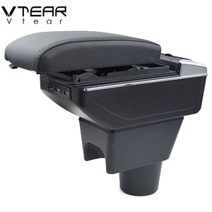 Image 3 - Vtear For renault duster accessories armrest USB interface arm rest Center Console car styling leather Storage Box interior 2018
