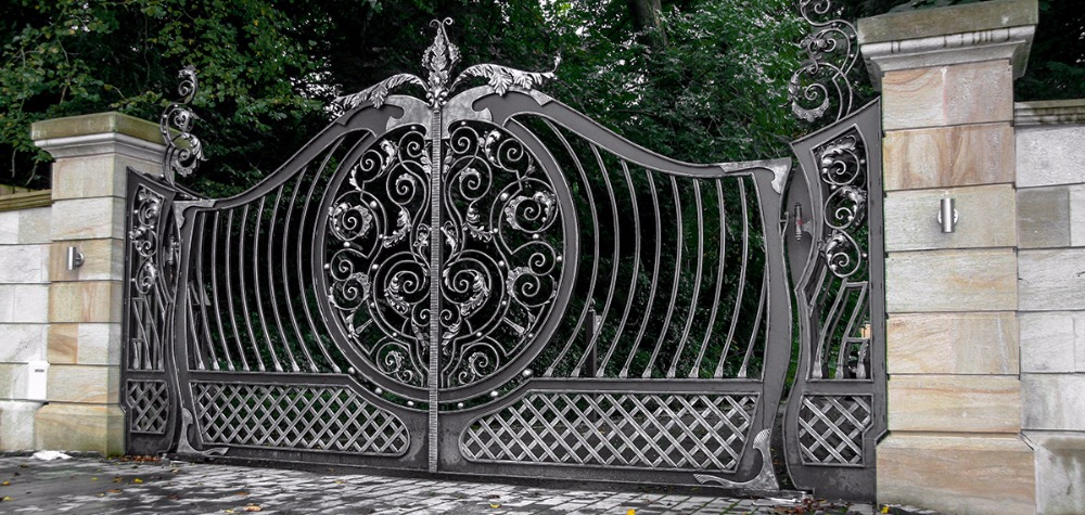 Wrought Iron Fences And Gates Iron Gates And Railings Galvanised Gates