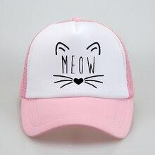new Meow print dad hat men women summer Baseball Caps Trucker Hat ForUnisex Mesh Adjustable Size Hip-hop snapback cap