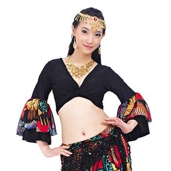 Женский топ для танца живота Gypsy Choli, с рукавами-фонариками, для танца живота