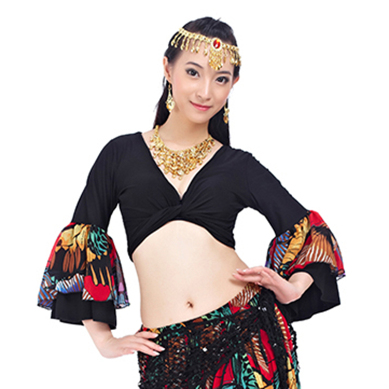 Tribal Belly Dance Performance Gypsy Choli Flare Sleeve Gypsy Costumes Women Dance Top for Bellydance