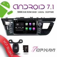 TOPNAVI 8'' Android 7.1 Vehicle DVD Players for Toyota Levin 2014 Car Buit in Wifi Free Map Update GPS Navigation Multimedia