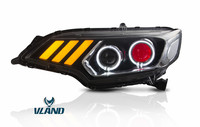 Vland завод для автомобиля свет светодиодный подходит светодиодные фары 2014 2017 2016 для джаз фара GK5 с DRL и ксеноновые луч света