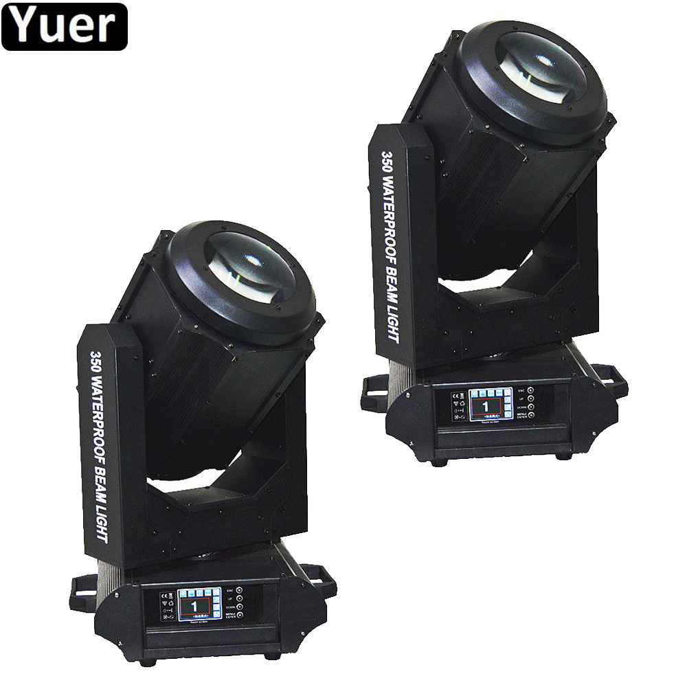 2Pcs/Lot IP65 350W Waterproof Outdoor Beam Moving Head Light Professional Stage Lighting For DJ Disco Sound Party Club Lights