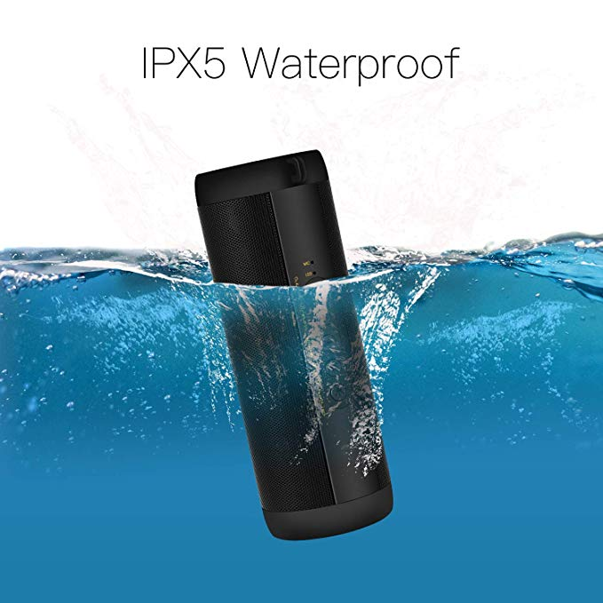 Image 2 - Waterproof Music Bass Bluetooth Speaker Outdoor Portable Led Wireless Column Loudspeakers Support TF Card FM Radio Aux Input-in Portable Speakers from Consumer Electronics