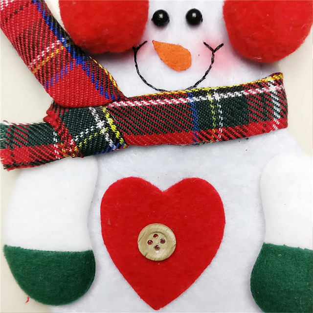 12pcs Xmas Cutlery Holder Lovely Snowman for your table