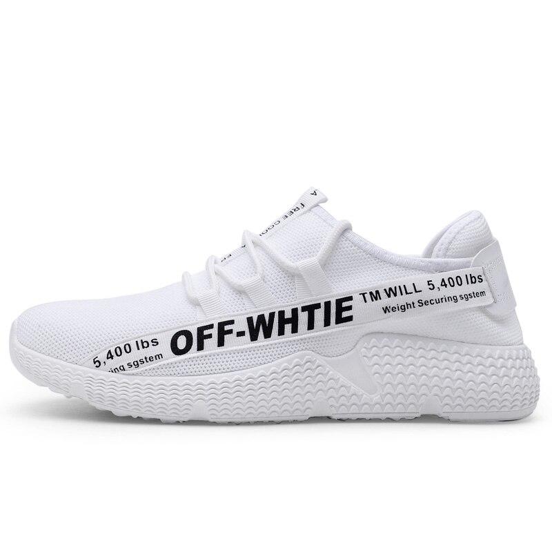 2018 Printemps Et en Été Sport En Plein Air Chaussures Pour Hommes Maille Respirante Off Blanc Running Chaussures Pour Hommes Blanc Noir Jaune Taille 39-44