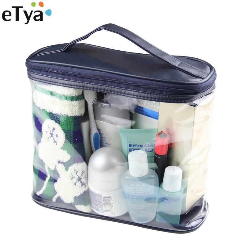 Women Men Cosmetic Bag PVC Transparent Travel Makeup Bags Wash Organizer Set Necessary Cosmetic Case Toiletry Bag