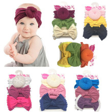 3PCS Kids Baby Headband Toddler Lace Bow Flower Hair Band Accessories Headwear amazing fashion 1pc girls kids pearl headband bow lace headband flower headwear children hair accessories
