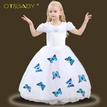 цены High Quality Girls Fantasy Cinderella Princess Dresses Ball Gowns Kids Sofia Rapunzel Lace Dress Girl Elsa Snow White Costume 10