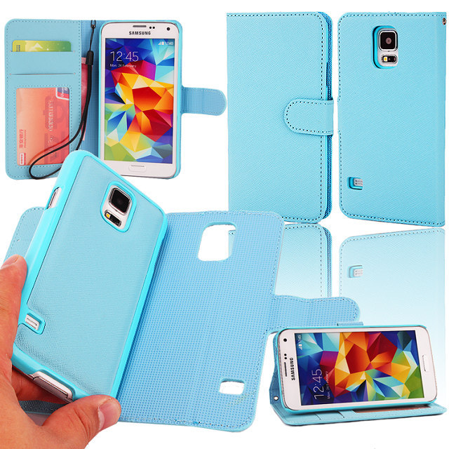sports shoes 812f8 9a0c6 US $8.99 |For Galaxy S5 Phone Case Lichee Detachable Magnet Stand Wallet  Flip Case for Samsung Galaxy S5 with Card Slots and Photo Frame on ...