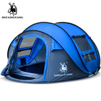 New Style Throw Tent Outdoor 3 4 Persons Automatic Speed Open Throwing Pop Up Windproof Waterproof