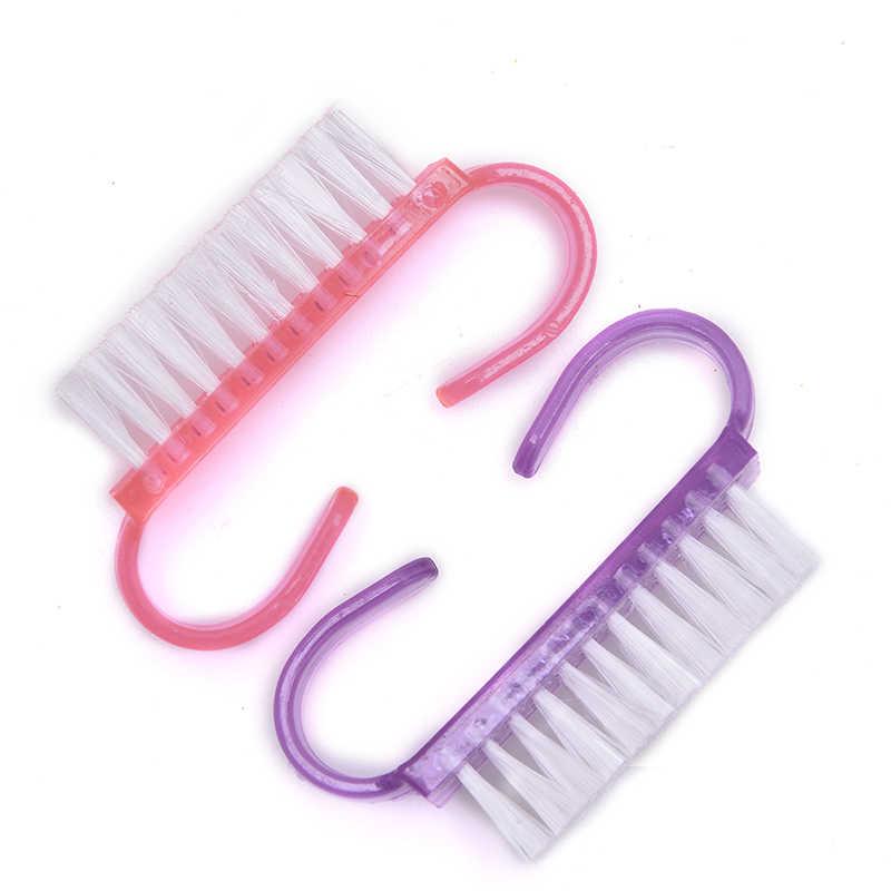 Herramientas de cepillo de uñas Limpieza de uñas cuidado de uñas manicura pedicura suave quitar polvo pequeño ángulo limpio para maquillaje de uñas alto calidad