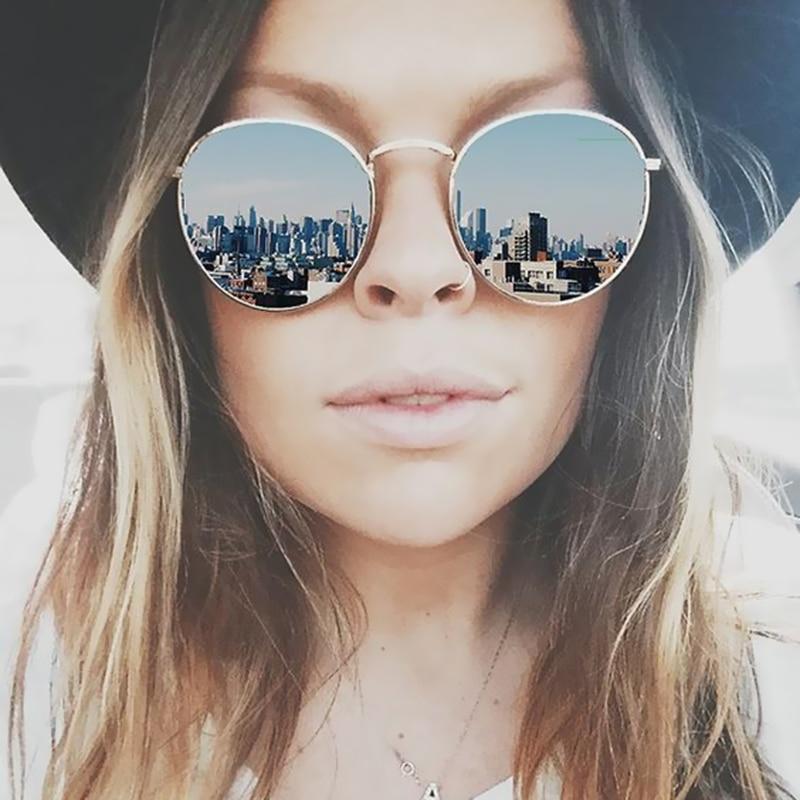 Fashion Men Women/'s Vintage Round Sunglasses Cute Retro Oversized Mirror Glasses