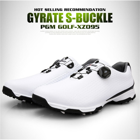 2019 New Arrival PGM Golf Shoes Men Sports Shoes Waterproof Knobs Buckle Breathable Anti-slip Mens Training Sneakers XZ095 Lahore