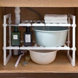 Image 3 - OTHERHOUSE ห้องครัวภายใต้อ่างล้างจานชั้นวางของ Double Layer หม้อหุงตู้สแตนเลสอ่างล้างจาน Rack