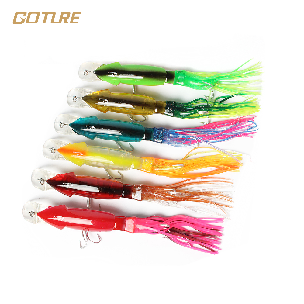 Online buy wholesale squid lures from china squid lures for Bulk fishing lures
