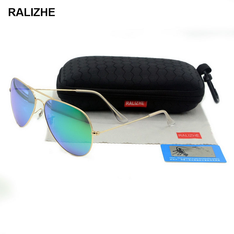 Mens Womens Aviation Metal Alloy Polarized Sunglasses Luxury Retro Classic Sun Glasses Large Frame Colorful Reflective UV400 in Men 39 s Sunglasses from Apparel Accessories