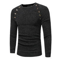 Sweater Men 2017 Brand Pullovers Casual Sweater Male O Collar Solid Simple Slim Fit Knitting Mens