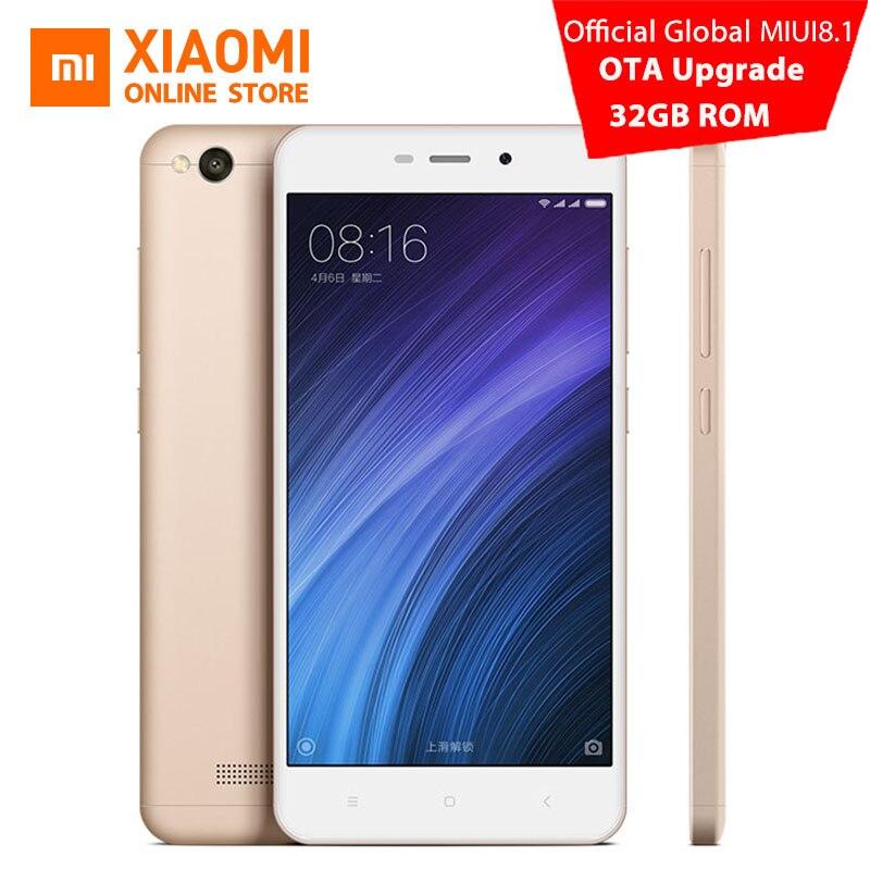 Цена за Xiaomi redmi 4a 2 ГБ 16 ГБ 32 ГБ rom мобильный телефон snapdragon 425 quad core cpu 2 ГБ ram 5.0 дюймов 13.0mp камера