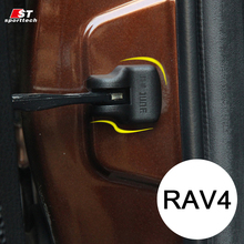 Car Styling Door Stop Cover For RAV4 Exterior Car Door Stopper Protection Cover For Toyota For RAV4 2013-2015 2016 Accessories