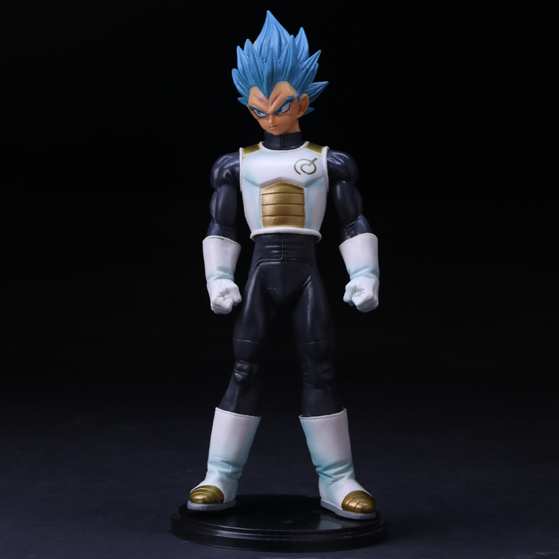 Anime Dragon Ball Z Vegeta Figurine Super Saiyan Blue hair Vegeta PVC Action Figure model toys doll collection gift juguetes hot patrulla canina with shield brinquedos 6pcs set 6cm patrulha canina patrol puppy dog pvc action figures juguetes kids hot toys