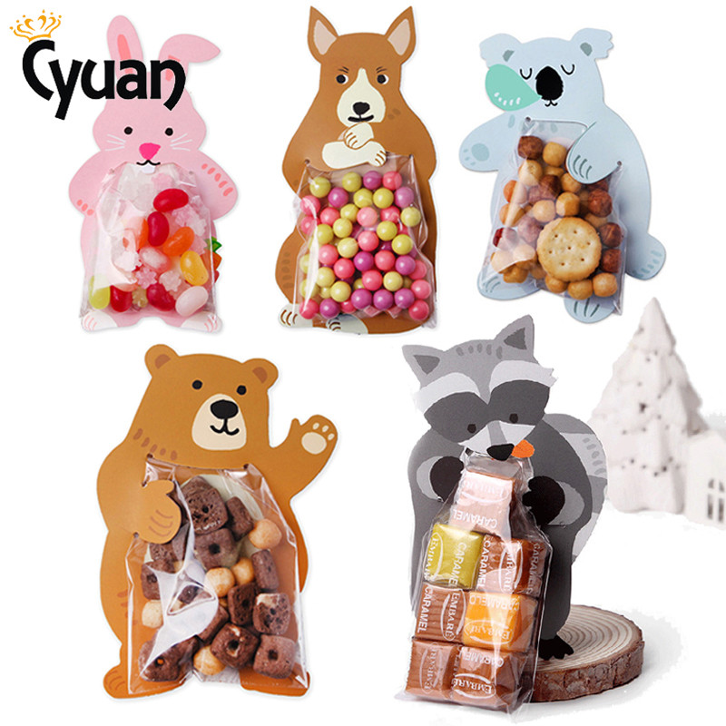 Easter Party Decorations Rabbit Candy Bags Bear Koala Fox Kangaroo Cookie Gift Bags Baby Shower Kids Birthday Party Candy Box