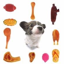 Pet Dog Puppy Squeak Toy Chew Toys Anti Bite Squeaker Squeaky Plush Sound Cute Ball Chicken Hamburger Designs Pet Supplies C42