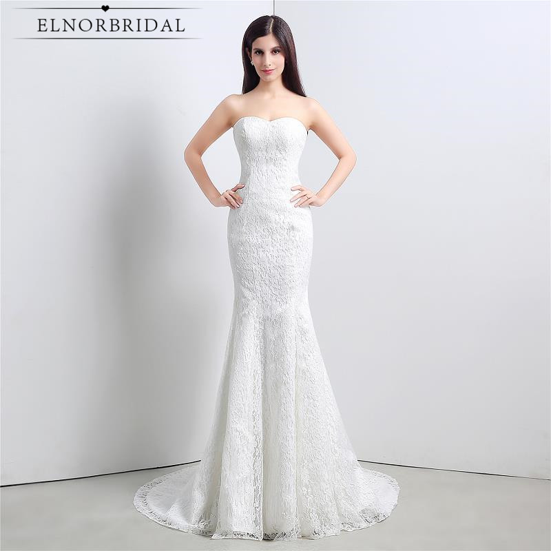 Modest lace mermaid wedding dress corset back sweetheart for Shop online wedding dresses
