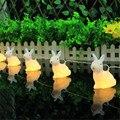 1*1.65 M 10led Adorável Coelho Forma DIODO EMISSOR de Luz Da Corda, Iluminação Fada Cordas 2 * AA Bateria Operado Coelho Branco quente Lâmpadas Quarto
