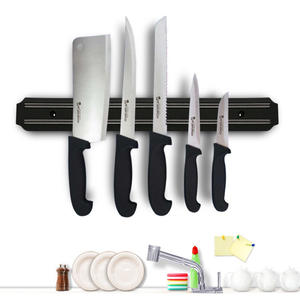 Knife-Tool-Holder Garage-Workshop Wall-Mount Magnetic Metal for Kitchen Office-Bar BALLE
