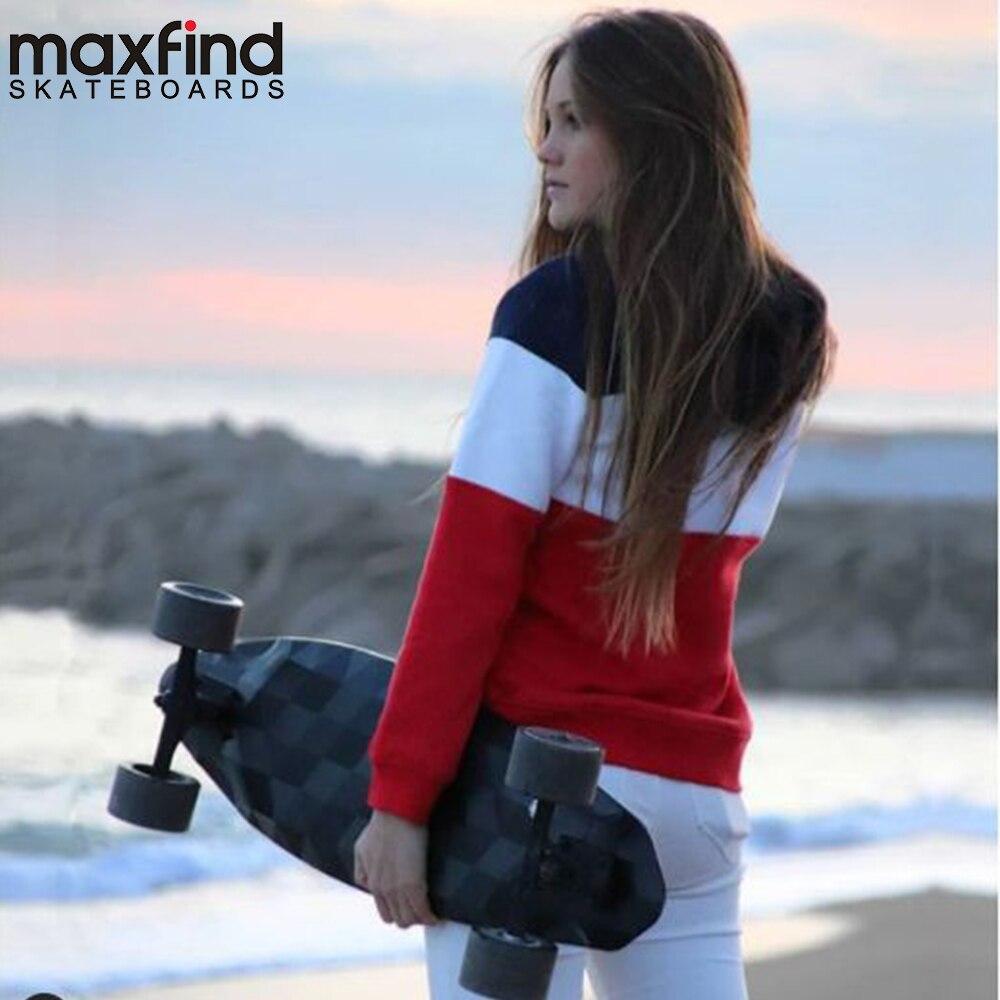 Maxfind Max2 Longboard skateboard électrique 23MPH Quatre Roue 1000 W * 2 double moteur Avec Sans Fil télécommande Scooter Hoverboad