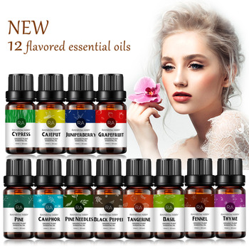 Plant Massage Oils Pine Needles Black Pepper Essential Oil for Aromatherapy Diffusers Basil Perfume Oils 12 Flavors Optional akarz famous brand natural aromatherapy basil oil improve spirit stabilization effect firming oil balance basil essential oil