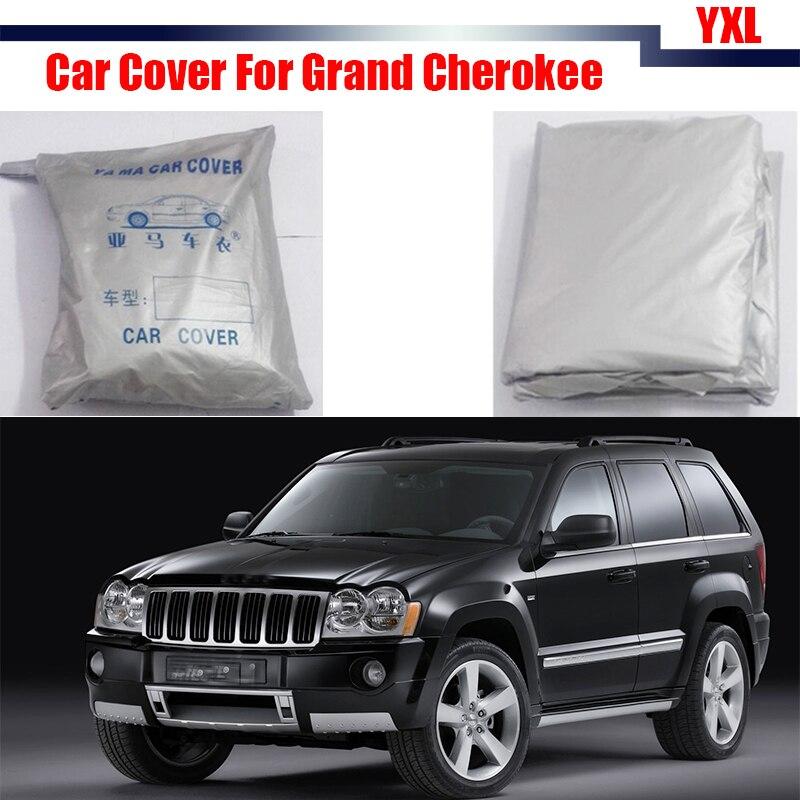 Cawanerl bâche de voiture pare-soleil neige pluie pare-soleil résistant anti-rayures UV couverture bâche de voiture pour Jeep Grand Cherokee