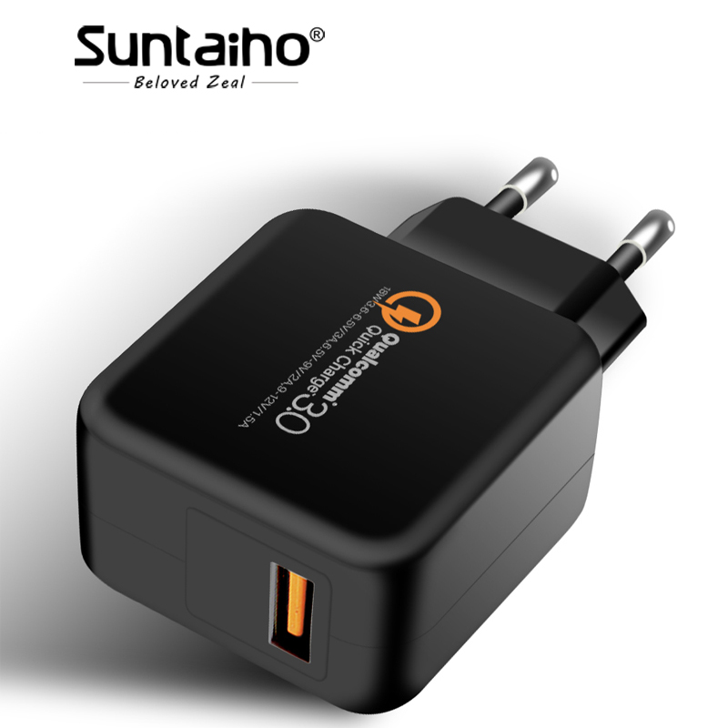 Suntaiho Travel Wall Charger Adapter QC 3.0 for iPhone/Samsung/XiaomiUSB Phone Charger Quick Charger Fast USB Charger