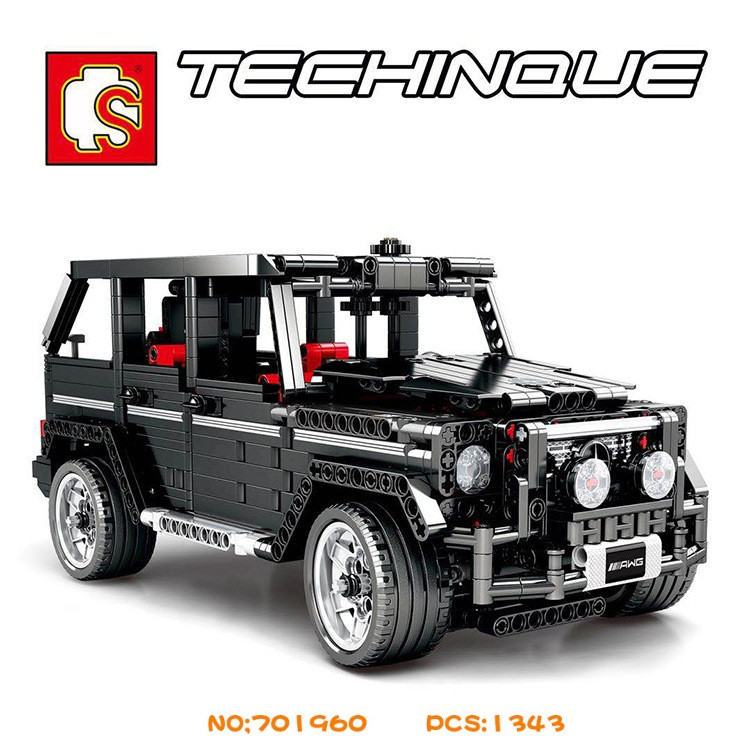 SEMBO Blocks RC Motor Car G500 Model Famous Car Building Bricks Educational Kids toys Children Gift for Boy <font><b>701960</b></font> image