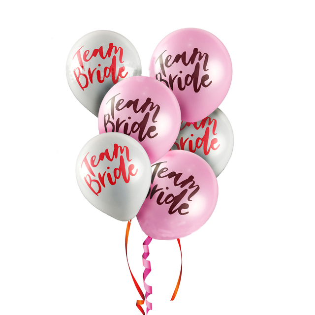 10pcs latex balloons team bride wedding decoration bridal shower 10pcs latex balloons team bride wedding decoration bridal shower party decoration hen night ballons decoration mariage junglespirit Images