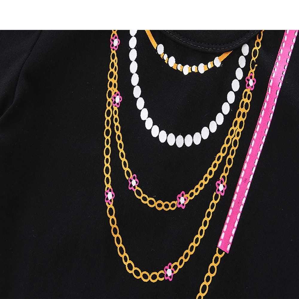 Tmall/Новогодняя одежда для маленьких мальчиков и девочек черный хлопковый комбинезон с круглым вырезом и короткими рукавами для новорожденных мальчиков и девочек