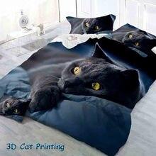 4341af569 3D Impressão Gato Crianças 3D padrão Gato Preto (existem Vários padrões de  repetição como a imagem) conjuntos de cama 2 3 4 pcs .