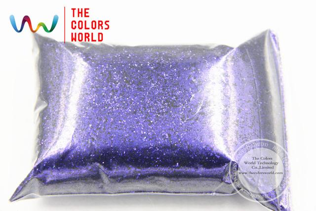 TCR403 Iridiscente púrpura del pavo real Azul Con brillo de color de 0.4 MM Tamaño del brillo para el Arte del clavo u otros DIY decoración