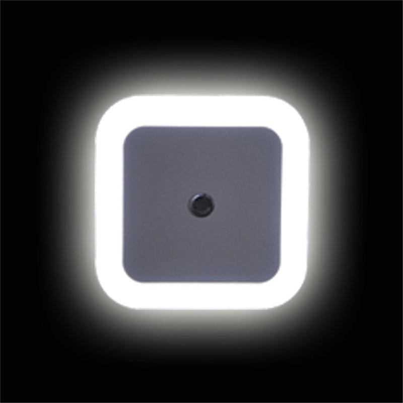 Light Sensor Control Night Light EU/US Plug Mini Novelty Square Bedside Lamp For Baby Gift Energency Lights AC110V 220V
