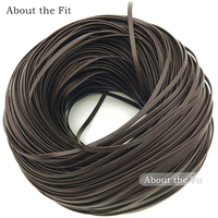 About the Fit 5mmx1.2mm 10Meters/Roll Nappa Lamb Leather Choker Flat Real Leather Cord Necklace Accessories For Jewellery Making