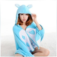 Shoulders conditioned rooms blanket cape cloak Alice in Wonderland Rabbit poncho