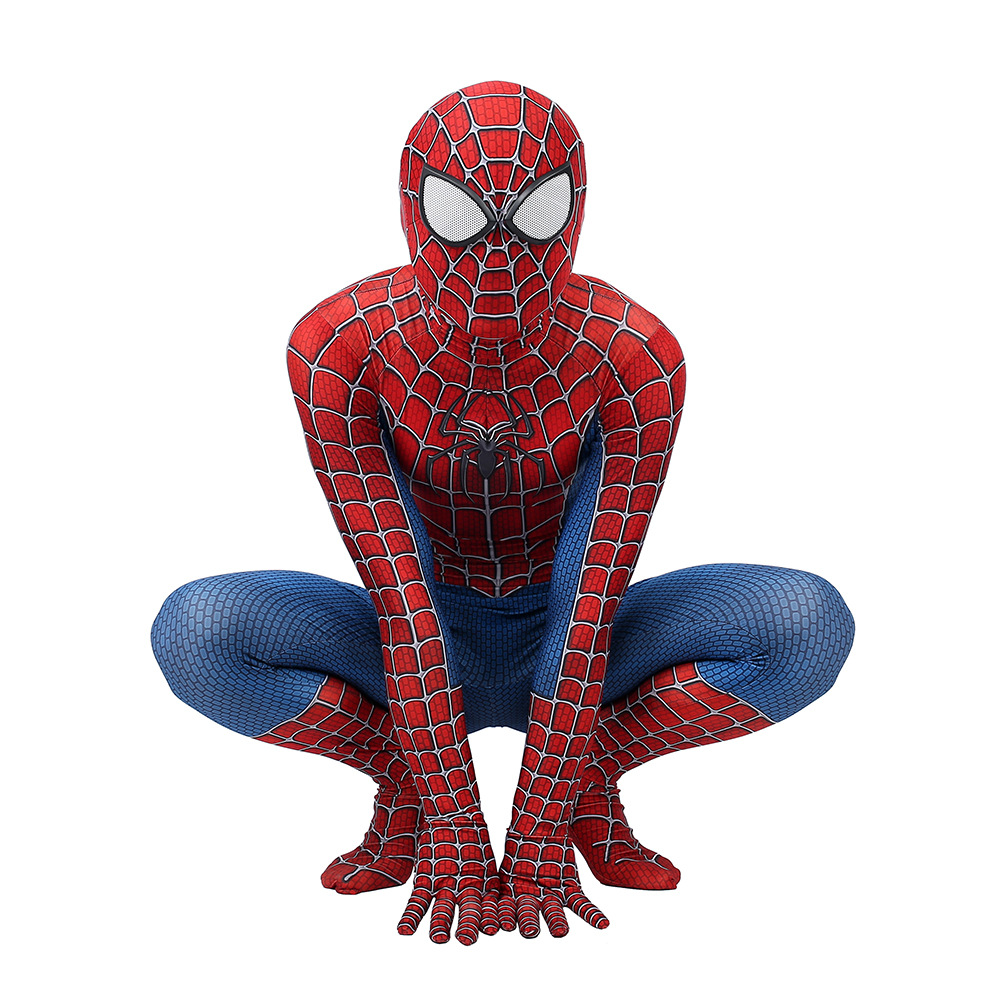 Image 3 - High quality Classic Remy spiderboy costume Kids Adult Lycra Spandex Spider Boy Tights For Halloween Mascot CosplayMovie & TV costumes   -