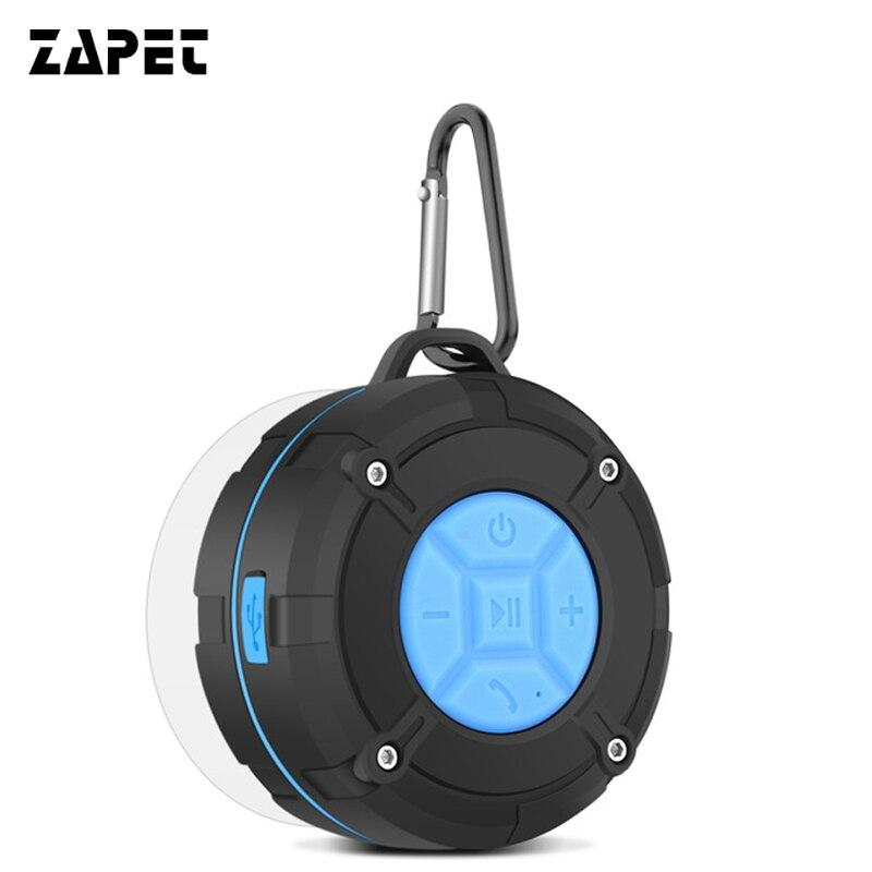 ZAPET al aire libre IPX7 impermeable Altavoz Bluetooth portátil inalámbrico Subwoofer altavoz ducha bicicleta altavoces de la succión de la Copa