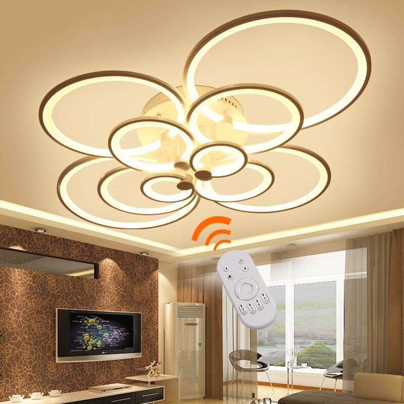 Modern Indoor Ceiling Lights : Surface mounted modern led ceiling lights for living