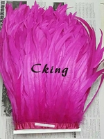 Free shipping new design 5Yard/color Rooster Coque Tail Fringes 35 40cm Sewing on Rooster feather trimming/ribbon 19 colors